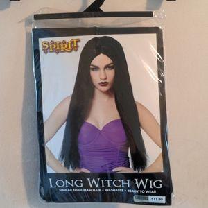 ❤️ 3 for $25! Spirit Halloween long black wig